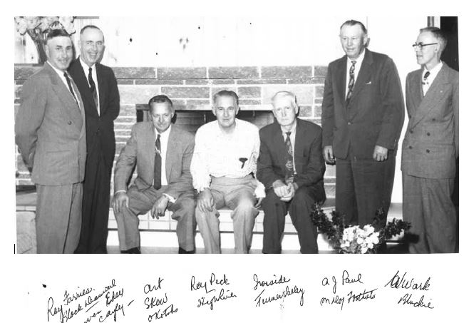 The first Board of Directors, April 1960.